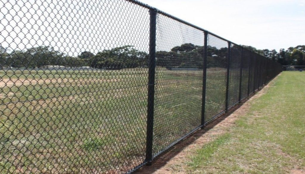 Long chainlink fence