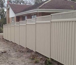 Colorbond fencing next to someones house