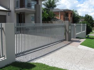 Galvanised Steel Fence outside a house